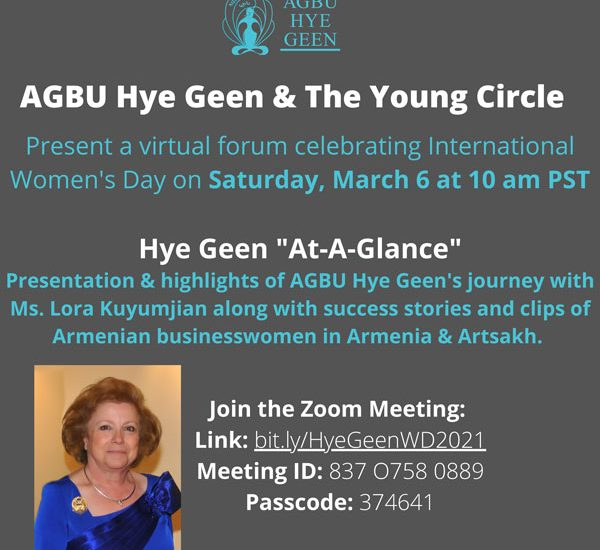 AGBU Hye Geen & The Young Circle – March 6 at 10 AM PST